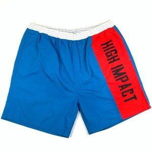 Vintage High Impact Block Color Shorts